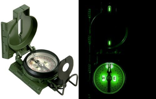 U.S Issue Mil-Spec Tritium Illuminated Aluminum Military Compass