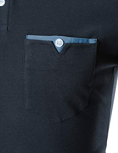 En T Fit Longue Mince Manche Ghyugr Coupe Bleu Tops Denim Coutures M Slim 1 Homme Polo Casual shirt xxl 1nqwgg7RXx