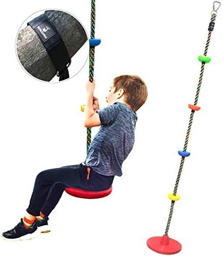 ROTAONY Tree Swing Climbing Rope Disc Swing