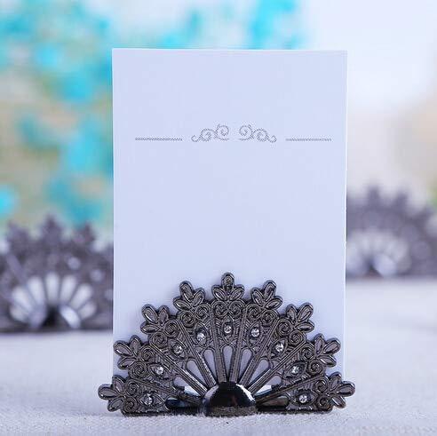 - Wedding Favors - 180pcs Lot New Wedding Favors Antique Fan Place Card Holders Name Cards Holder Bridal Shower Favor - Mints Alcohol Liquor Pouches For Vegas Dress Gold Pepper Boxes