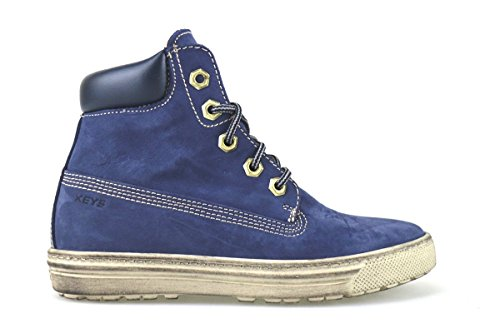 Schuhe Damen KEYS sneakers Blau Veloursleder AJ146