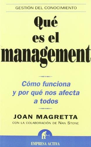 Que es el Management? (Spanish Edition)