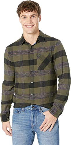 - Original Penguin Men's Long Sleeve Plaid Flannel Button Down Shirt, Bronze Green, Large