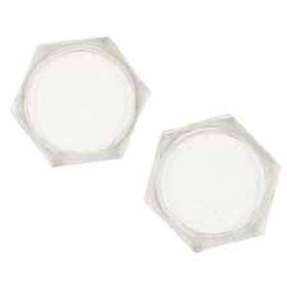 Acrylic Hexagon Coasters, Set of 4