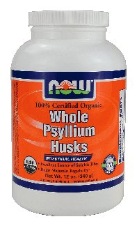 NOW Foods - Whole Psyllium Husks Intestinal Health 100% Certified Organic - 12 oz. ( Multi-Pack)