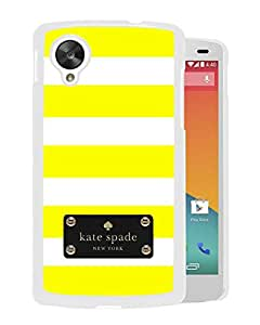 Beautiful DIY Designed Kate Spade Cover Case For Google Nexus 5 White Phone Case 118