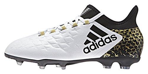 adidas X 16.1 Fg J, Botas de Fútbol para Niños Blanco (Ftwbla / Negbas / Dormet)