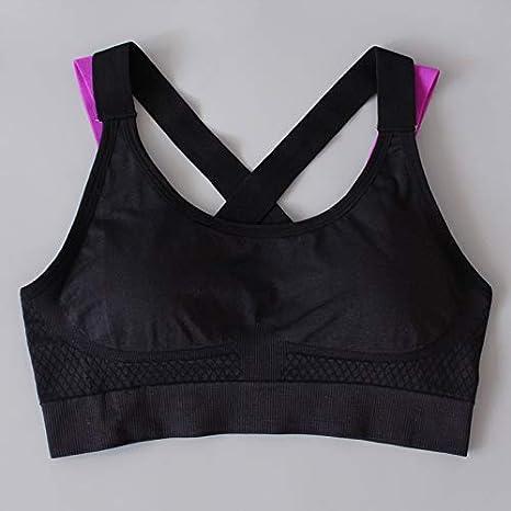 HELUYDNY Mujer Yoga Sujetador Deportivo Push Up Correr Camiseta Deportiva Camisa de Gimnasia Fitness Sujetador Deportivo Sujetador para Mujer Ropa Activa: Amazon.es: Deportes y aire libre