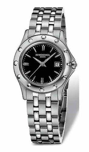 Raymond Weil TangoブラックダイヤルステンレススチールLadies Watch 5390-st-20001 B0002FQH0K