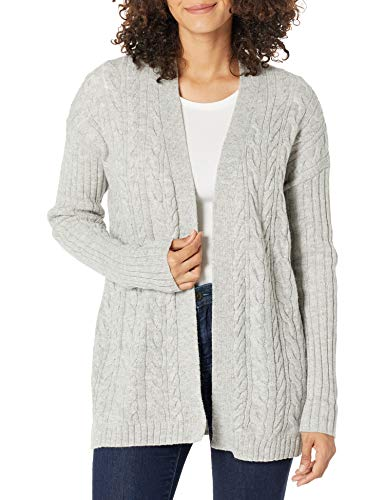 Amazon Essentials Women's Relaxed Fit Long-Sleeve Cable Open-Front Sweater