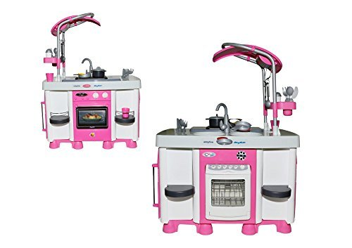 Kinderküche Plastik - Carmen Spielküche mit Spülmaschine und leuchtendem Kochfeld