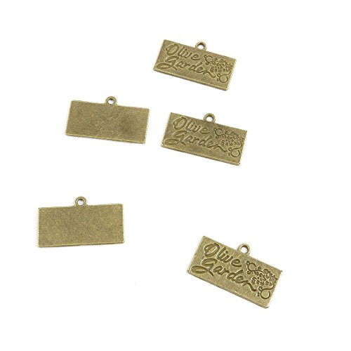 290 PCS Ancient Antique Bronze Fashion Jewelry Making Crafting Charms Findings Bulk for Bracelet Necklace Pendant Retro Accessoires Lots Vintage C7EN6B Olive Garden Tag Signs