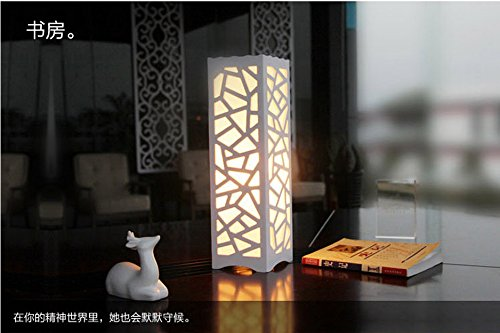 YanCui@ Lighting decorative Utility Table Lamp Carved Table Lamp Continental Hotel Bedside Bedroom Study Bedside Living room , dish dance