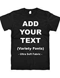 Custom T Shirts Ultra Soft Add Your Own Text Message Unisex Cotton T Shirt