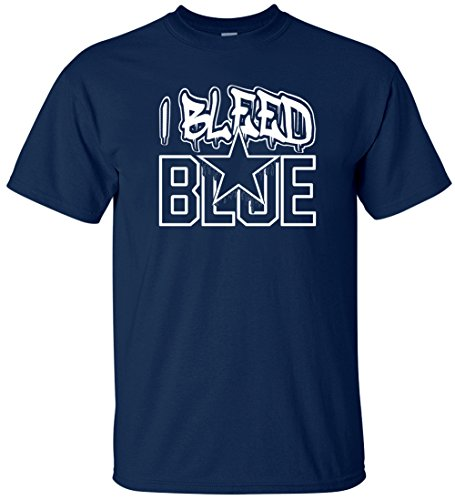 NZone Dallas I Bleed Blue Men's T-Shirt (2XL)