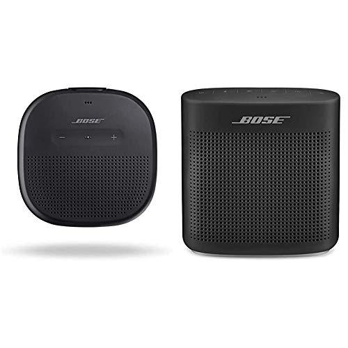 Bose SoundLink Micro, Portable Outdoor Speaker, (Wireless Bluetooth Connectivity), Black & SoundLink Color Bluetooth…