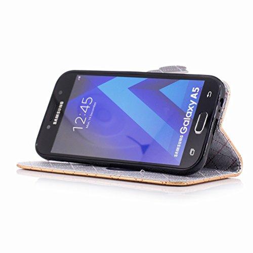 Yiizy Samsung Galaxy A5 (2017) Funda, Amar Diseño Solapa Flip Billetera Carcasa Tapa Estuches Premium PU Cuero Cover Cáscara Bumper Protector Slim Piel Shell Case Stand Ranura para Tarjetas Estilo (Do