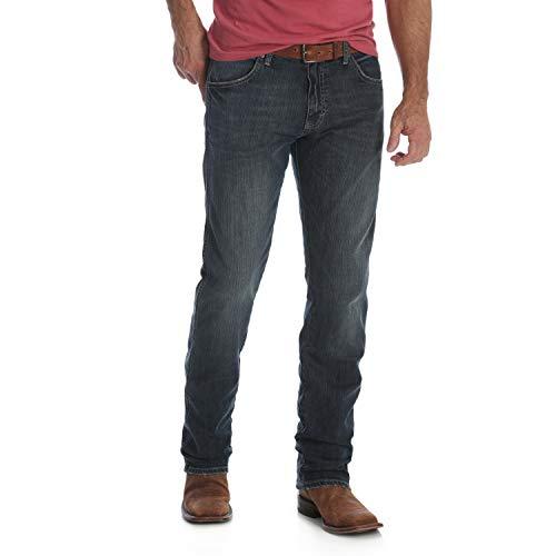 - Wrangler Men's Retro Slim Fit Straight Leg Jean, Jerome, 42W x 32L