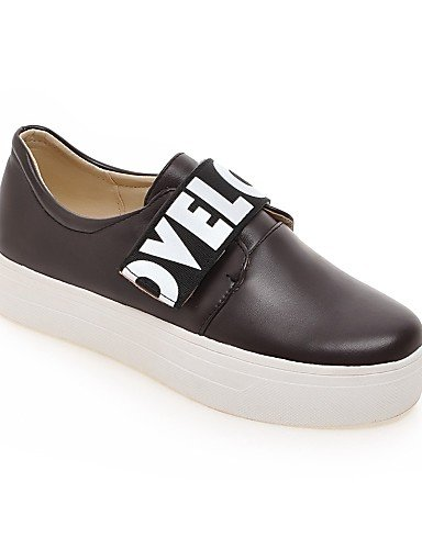 uk4 gyht eu39 Negro us6 Semicuero us8 brown ZQ eu36 mujer Plataforma cn39 black Punta Redonda Blanco Zapatos cn39 eu39 de us8 uk6 Marrón uk6 cn36 brown Mocasines Casual FqvwdZ