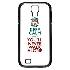 Liverpool Keep Calm Never Walk Alone Galaxy S4 Plastic Case