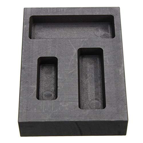 LTKJ Graphite Ingot Molds for Casting, 1/4 1/2 1 OZ Refining Scrap Bar Combo Mould for Gold Silver Metal ()