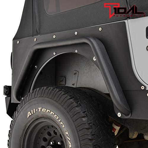 Tidal Armor Rear Corner Guard Black Textured for 87-96 Jeep Wrangler YJ ()