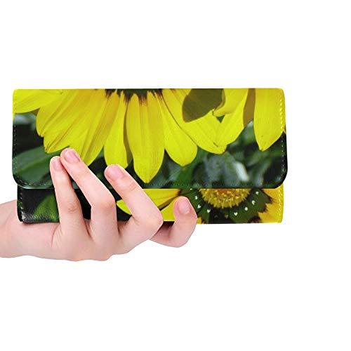 Unique Custom Cape Basket Osteospermum Cape Daisies Women Trifold Wallet Long Purse Credit Card Holder Case Handbag