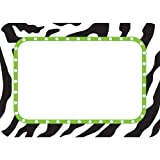 TEACHER CREATED RESOURCES ZEBRA NAME TAGS LABELS (Set of 24)