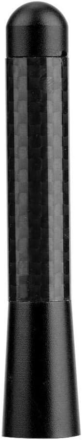 """Nero antenna per antenna corta con radio a vite da 3 /""""in fibra di carbonio per modifica universale dellauto Antenna per auto"""