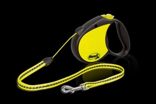 Flexi RFLCT S Small Black & Neon Yellow Reflective Retrac...