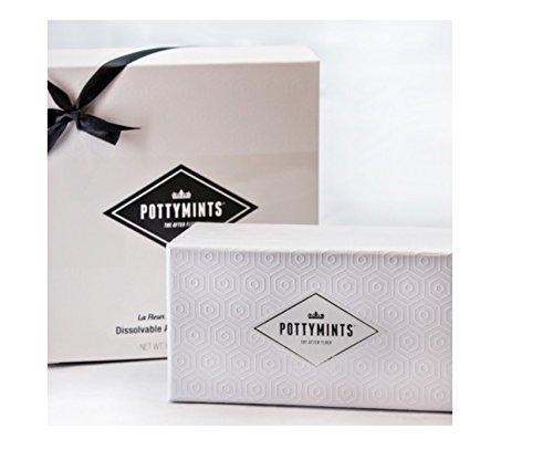 PottyMints Travel Bathroom Toilet Odor Eliminator Air Freshener Tablets Gift Box Set White ()