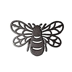 DEI 4.5 Inches x 8 Inches Cast Iron Bee Trivet Kitchen Accessories