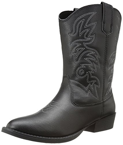 Deer Stags Ranch Kids Cowboy Boot (Toddler/Little Kid/Big Kid), Black, 12 M US Little Kid