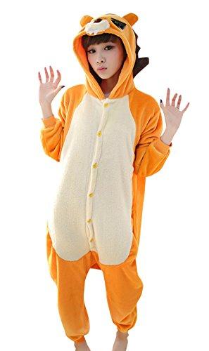 Horses Dressed Up In Costumes (Unisex Adult Animal Oneise Kigurumi Pajamas Halloween Horse Cosplay Costume L Orange Lion)