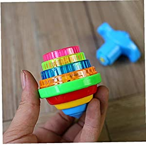 1PC Light Up Flashing Spinning Top Toys with Gyroscope Novelty Bulk Toys Party Favors Kids Toys