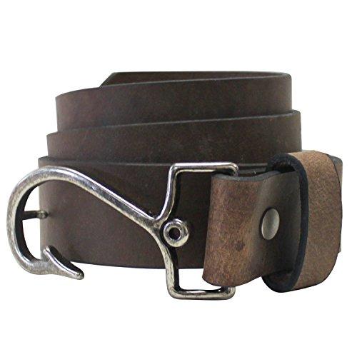 Bison Designs 779CHR 36 Cast Away Leather Belt, Brown, 36
