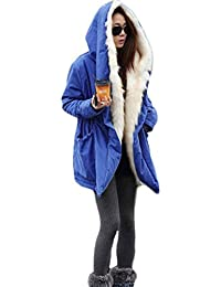 Womens Winter Casual Hoodie Coat Military Jacket Parkas Long Trench Overcoat