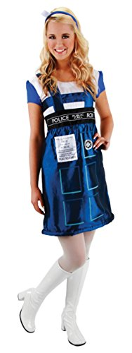 elope Womens Doctor Who Tardis Dress Theme Party Fancy Halloween Cute Costume, L/XL -