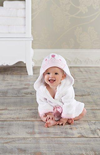 Baby Gift Kuwait : Baby aspen little princess hooded spa robe pink white