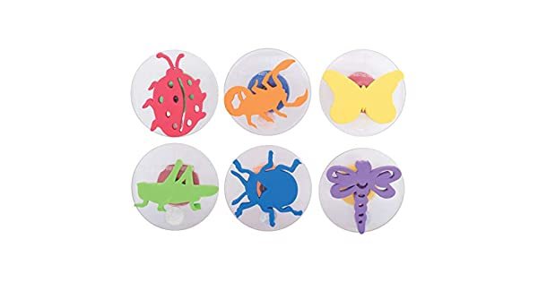 Pack of 6 Center Enterprises Inc. Center Enterprise CE6784 READY2LEARN Giant Insects Stamps