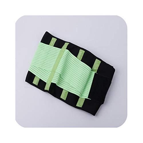 (Fitness Belt Xtreme Power Thermo Hot Body Shaper Waist Trainer Trimmer Corset Waist Belt Wrap,Green,XXL)