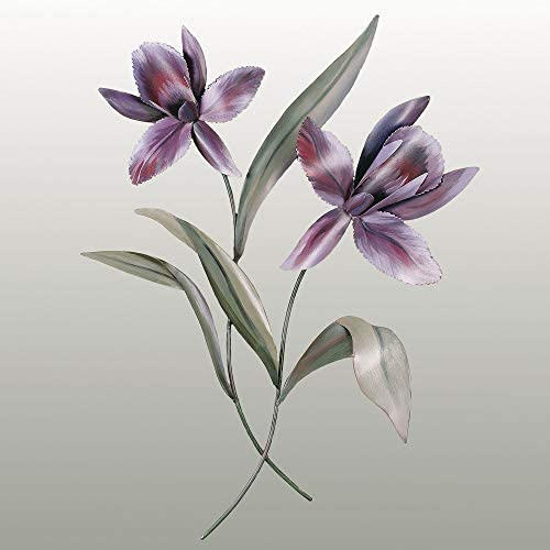 Orchid Blossom Metal Wall Sculpture Purple