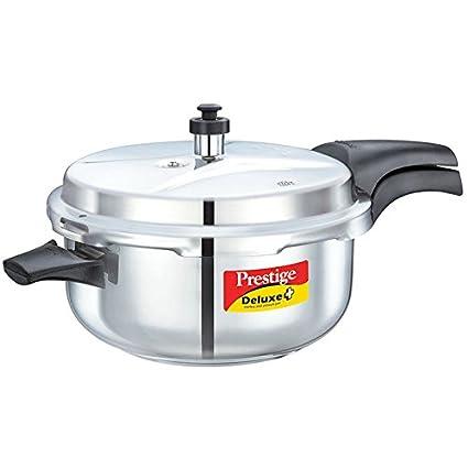 Prestige Deluxe Stainless Steel Deep Pressure Pan (5 liters)