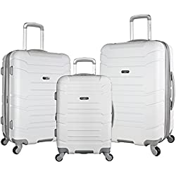 Olympia USA Olympia 3 Piece Luggage Set, White