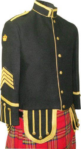 Military Tunic Doublet Jacket, BagPiper or Drummer, Custom Made, Bagpipe ()