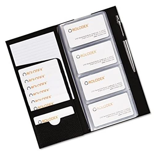 Cheap Rolodex Low Profile Business Card Book 96 Card Black 76659