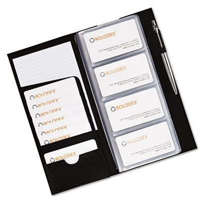 Sanford Rolodex Low-Profile Business Card Book, 96-Card, Black (76659)
