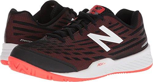 New Balance Men's 896v2 Tennis Shoe, Black/Flame, 11.5 2E US (Balance New Apparel Tennis)