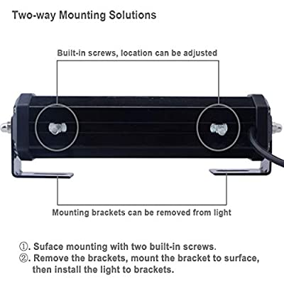 Red White Flashing Emergency Surface Mount and Grill Light, WOWTOU 12V 24V Warning LED Strobe Safety Light Bar for Fire Truck Ambulance EMS Volunteer Firefighter First Responder Vehicles: Automotive