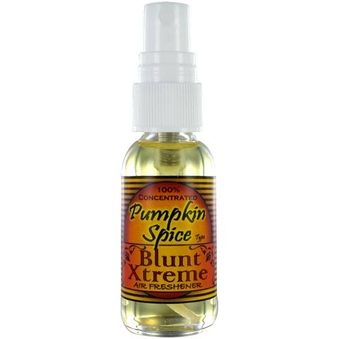 Super Pumpkin Spice Air Freshener By Blunt Xtreme - 100% Ultra Concentrated Oil Based Spray - Ideal For Bathroom, Home, & Car More - Smokers' 1st Choice - Long Lasting Effects - 1oz Bottle